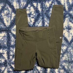 lululemon   speed up tight olive green leggings